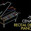 Cartel de la cena-recital de piano
