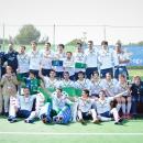 El Club de Campo de hockey posa con el trofeo de campeones de Liga. Foto: Rfeh