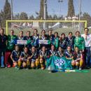 Plantilla y cuerpo técnico posan con la Copa de la Reina 2019. Foto: Miguel Ros