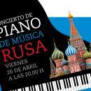 Cartel del concierto de piano de música rusa