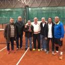 Equipo masculino del Club Campeón de España +60 de tenis.