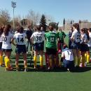 Edu Aguilar reúne a sus jugadoras al final del partido
