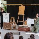 Los dos actores de El Principito en plena representación. Foto: Miguel Ros