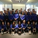 El rector de la Universidad Francisco de Vitoria, Daniel Sada, se reúne con los 30 estudiantes deportistas que forman parte del programa UFVDeporte.