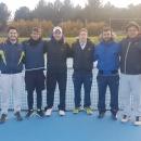 Varios de los jugadores del equipo masculino absoluto de tenis: Ignacio Álvarez Mon, Rafael Ruiz, Darío García, Sergio Magro, Íñigo Santos, Alberto Santos y José Eraña.