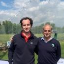 Antonio (izda.) y Fernando Mata, padre e hijo y jugadores de golf del Club. Foto. FedgolfMadrid
