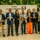 Entrega de premios de la final de la Copa Javier Arana de golf.