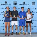 Lidia González, Jules Matossian, Daniel Sancho y Carmen Gallardo con sus trofeos