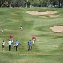 Jugadores de golf en el Club de Campo Villa de Madrid.