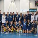 Plantilla y cuerpo técnico del Club de Campo tras conquistar el Campeonato de España de Hockey Sala 2017