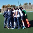 Jugadores y cuerpo técnico del Club de Campo celebran una victoria