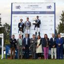 Podio con autoridades del Gran Premio del CSI Madrid 5*-Longines Global Champions Tour