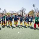 Las campeonas de Copa saltan y bailan al final del partido por el oro. Foto: Miguel Ros
