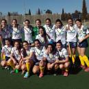 Las jugadoras del Club de Campo posan en un reciente partido
