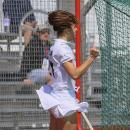 Lucía Abajo celebra el noveno gol del Club de Campo. Foto: Andy Crayford