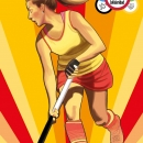 María López, abanderada de las Olimpiadas de la Solidaridad. Foto: TDS