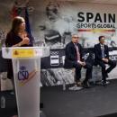 Intervención de Mercedes Coghen en la presentación. Foto: ABC