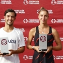 Pablo Carretero y Ainhoa Atucha, campeones absolutos de tenis de Madrid. Foto: FTM
