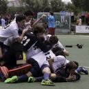 Piña del Club de Campo tras conquistar el título de campeón de España juvenil de hockey 2018. Foto: Ignacio Monsalve
