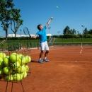 Jugadores de tenis en el Club de Campo Villa de Madrid. Foto: Miguel Ros