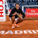 Rafa Nadal celebra su quinto título en Madrid. Foto: Mutua Madrid Open