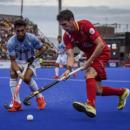 Los Red Sticks, en un partido contra la selección argentina. Foto: RFEH